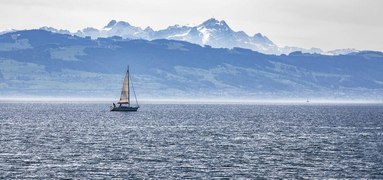 Der Bodensee: Segeln zwischen drei Ländern