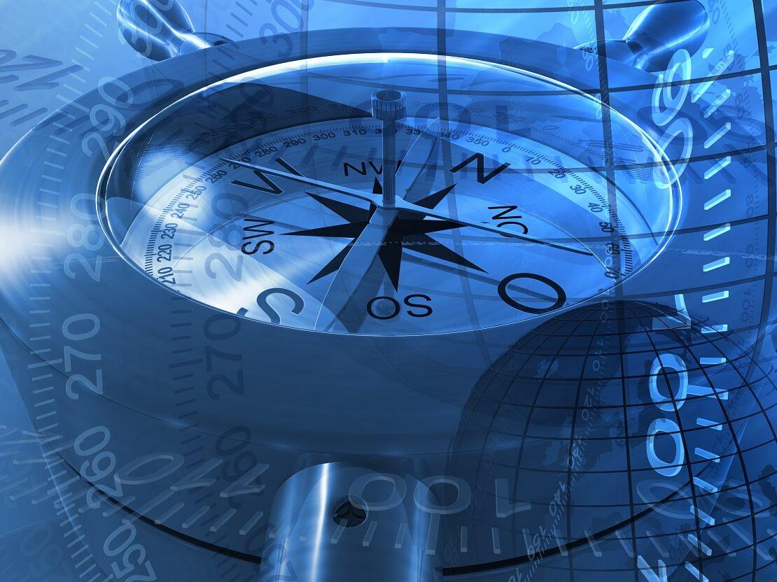 Grafischer Kompass