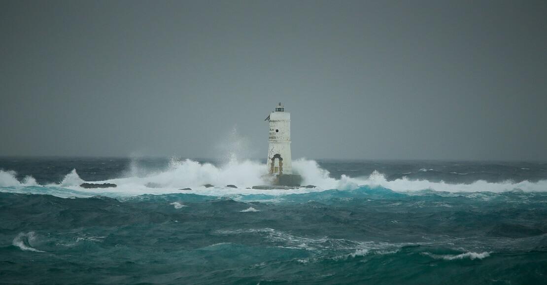 Wind und Wellen im Meer
