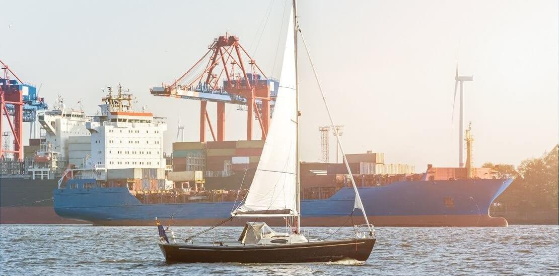"""Segeln auf der Elbe heißt """"Immer Tide mit"""""""