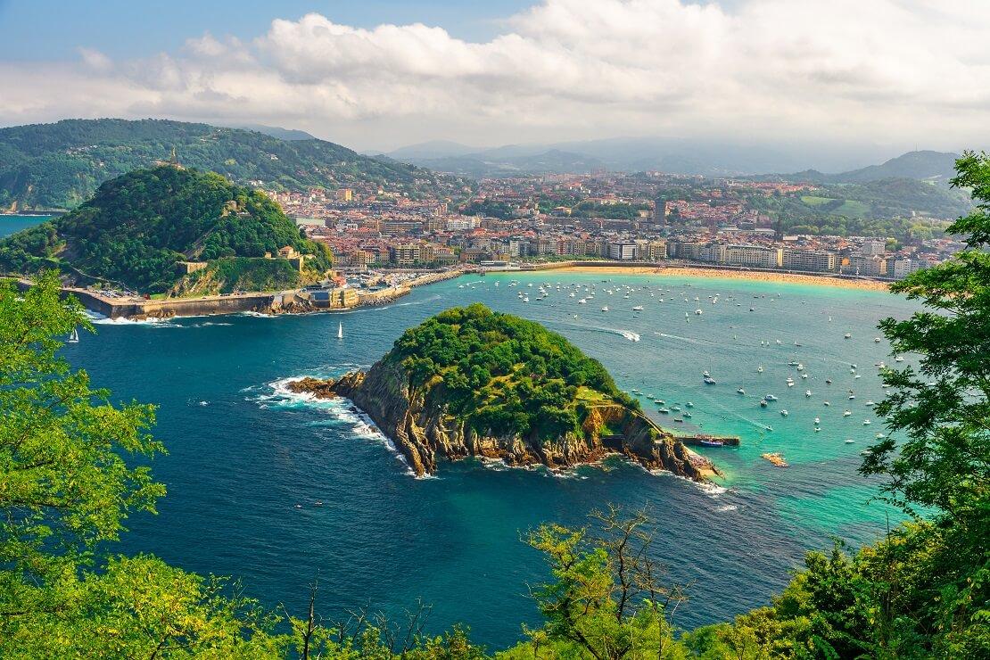San Sebastian an der Atlantikkueste Spanien