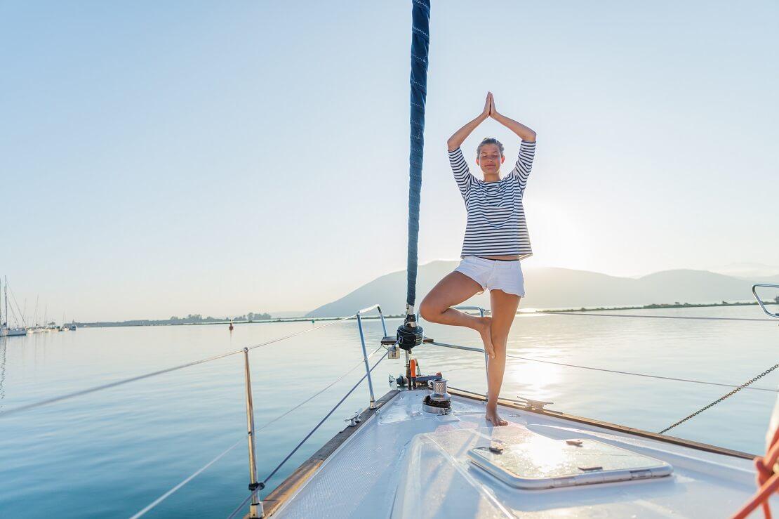 Segeln und Yoga: Den Kopf frei machen