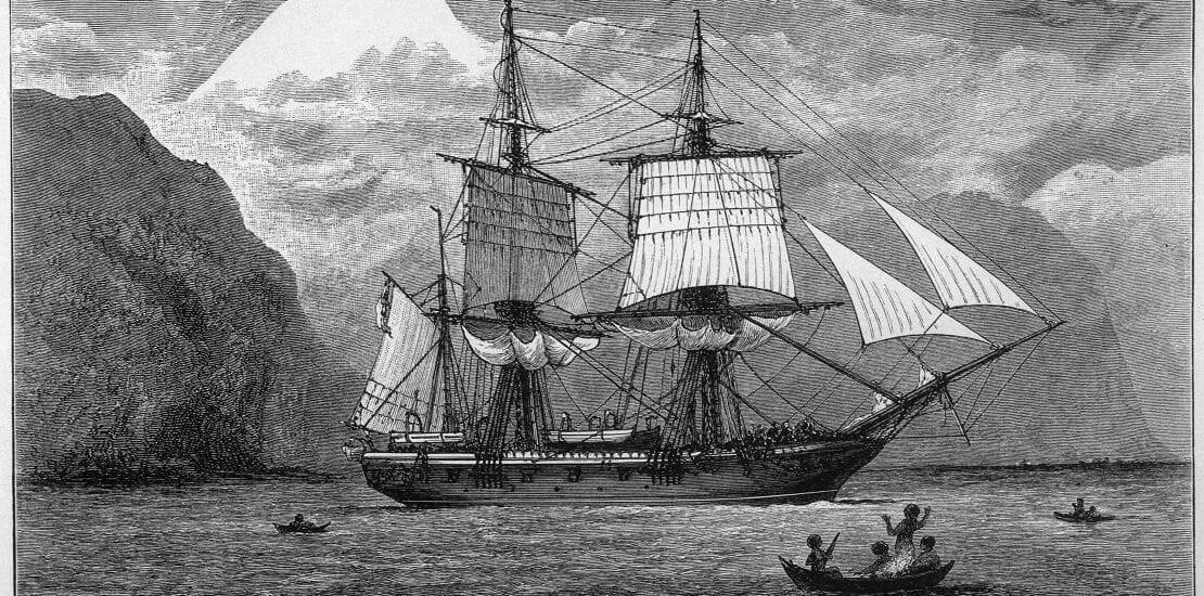 Charles Darwin verleiht der HMS Beagle ihre Berühmtheit