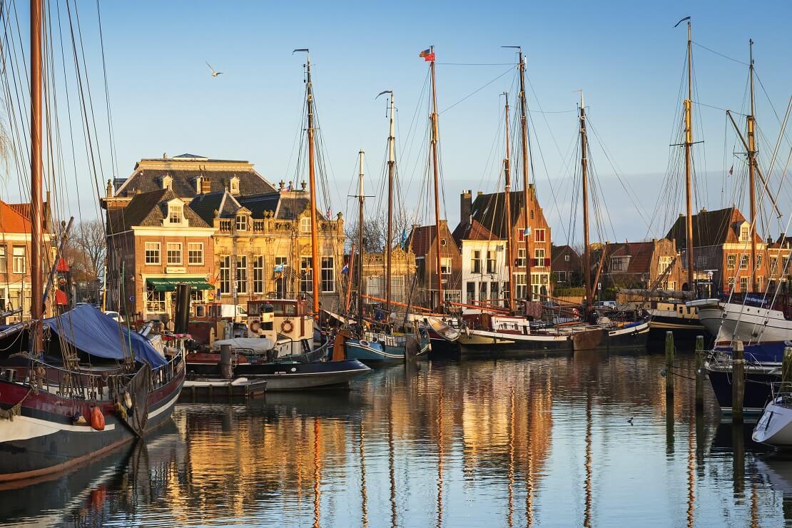 Das Ijsselmeer und die Stadt Oude