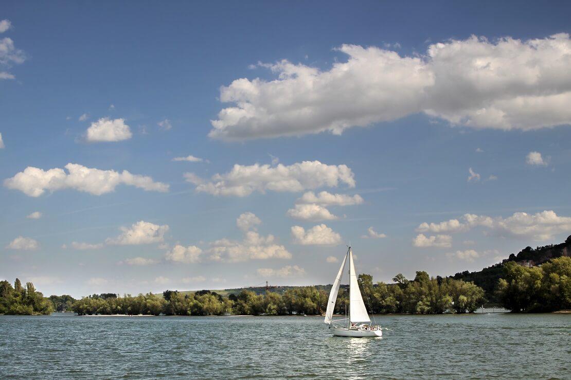 Segeln auf dem Rhein