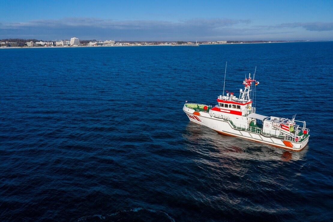 DGzRS Rettungskreuzer auf dem Wasser