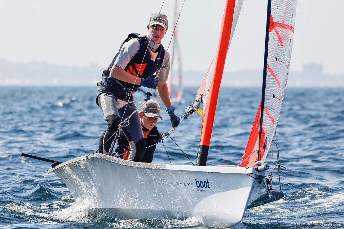 Anton und Johann Sach bei der Kieler Woche