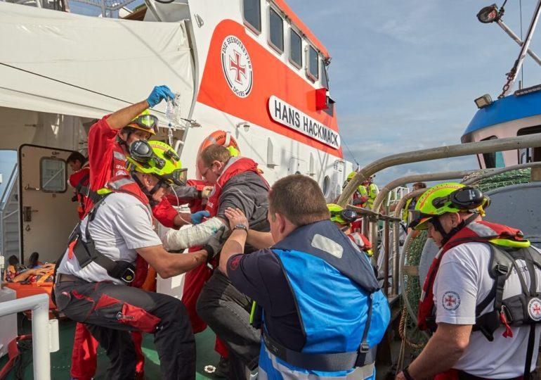 DGzRS: Training der Seenotretter in der Lübecker Bucht
